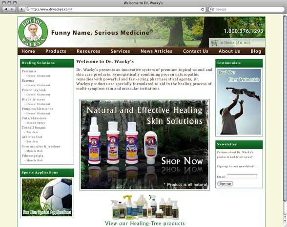 Dr. Wackys natural skin solutions